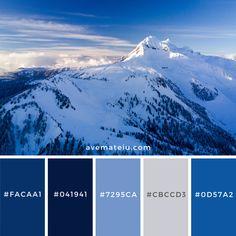 Whistler, Canada Color Palette – color of life Red Colour Palette, Blue Colour Palette, Blue Color Schemes, Color Azul, Color Combos, Blue Color Pallet, Nature Color Palette, Colour Board, Winter Colors