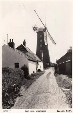 Mill Windmill Waltham Grimsby RP old pc used 1958 Frith | eBay