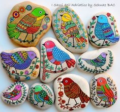 am working with new designs in these days, but I think i should find some good, white stones for my new birds :) I miss to paint them so much #paintedstones