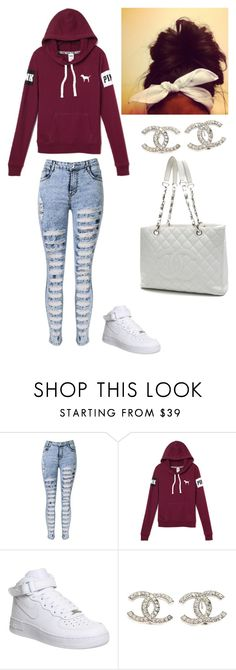 """"""""""" by justinbiebz94 on Polyvore featuring NIKE, Chanel, women's clothing, women, female, woman, misses and juniors"""