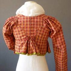 Red Square Jacket c 1800 The back is beautiful with the small buttons and pleating. Good colour and design print.