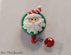 Santa Baby - Retractable Badge Reel - ID Badge Clip - Holiday Badge Holders - Stocking Stuffers - Badge Reel Gifts - Christmas Badge Pull