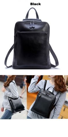 Retro leather backpack Shoulders Bag Weekend bag college bag travel backpack gift girls backpack