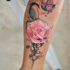 ▷ 1001 + ideas for a beautiful watercolor tattoo you can steal – Rose Tattoos Forearm Flower Tattoo, Forearm Tattoos, Body Art Tattoos, Tatoos, Watercolor Rose Tattoos, Pink Rose Tattoos, Flower Watercolor, Watercolor Tattoo Sleeve, Rose Tattoos For Women
