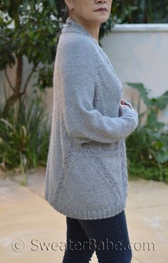 Knitting Pure /& Simple Knitting Pattern #251 Easy Lace Poncho