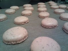 """Your macarons should be flat on top, with """"feet""""--the ruffly bottoms you see here."""