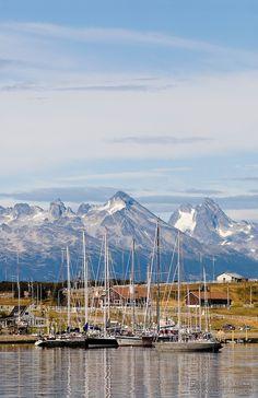 Ushuaia harbor, Patagonia, Argentina
