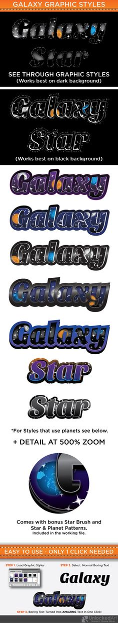 Galaxy Graphic Styles — Vector EPS #space #night • Available here → https://graphicriver.net/item/galaxy-graphic-styles/4630826?ref=pxcr