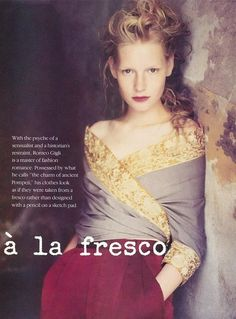 Kirsten Owen for Romeo Gigli by Paolo Roversi.