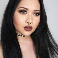 """Im diggin the """"fake freckles"""" trend right meow lol _________________________________ I used @nyxcosmetics Eyebrow pencil in Brown to do the freckles and i have NYX lingerie in Beauty Mark on my lips @desioeyes @desiolens Caramel Brown @milanicosmetics The Multitasker Face Powder in Deep Amber as a bronzer and eyeshadow @mywunderbrow WunderBrow in Brunette @hotmakeup.usa Red Carpet Ready Concealer in RCC01 @colourpopcosmetics Blush in Aphrodisiac…"""