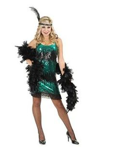 Adult Black and Jade Sequin Flapper Costume LARGE   The Grownup Black and Jade Sequin Flapper Gown is a singular outfit that may were progressive having a look within the 20s. The get dressed includes a patterned sequin design and fringe alongside the hem. Get your self a boa a headscarf and different pieces so as to add to the Gown order. Measurement: Small (Suits such a lot sizes five-7) Medium (Suits such a lot sizes eight-10) Huge (Suits such a lot sizes eleven-thirteen) Comprises: a…