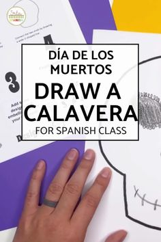 Save yourself time and engage your students with this simple art project for Día de los Muertos! This is an easy print and go activity to explore culture around Day of the Dead! Students are shown 4 steps to create and decorate their own calavera. No prep lesson plan for Day of the Dead in your middle school and high school Spanish classroom! Click the link to download now! Simple Prints, Simple Art, Spanish Lesson Plans, High School Spanish, Easy Art Projects, Spanish Classroom, Printable Banner, Classroom Displays, Save Yourself