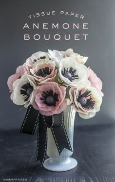 DIY Tissue Paper Anemone Bouquet by lia griffith | Project | Papercraft / Weddings | Decorative | Kollabora