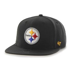 705604a66e9875 Pittsburgh Steelers Super Shot Captain Black 47 Brand Adjustable Hat