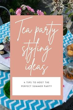 How to style the perfect summer tea party to enjoy with family & friends by interior stylist Maxine Brady Interior Design Advice, Interior Stylist, Host A Party, Tea Party, Turmeric Vitamins, Ahmad Tea, Perfect Cup Of Tea, Best Tea, Love Home