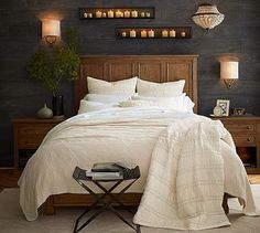 This is for the one at the foot of the bed, but I really like the blanket on the bed as well...