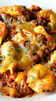 Cheesy Crockpot Tortellini Recipe ~ A delicious dinner!