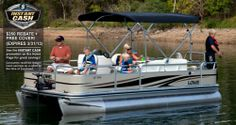 Superior handling and easy-to-use angling features make the Fishing Pontoon the top entry-level fishing pontoon boat for active families. Deck Boats For Sale, Pontoon Boats For Sale, Fishing Pontoon Boats, Fishing Boats For Sale, Sport Fishing, Gone Fishing, Aluminum Jon Boats, Luxury Pontoon Boats, Lowe Boats