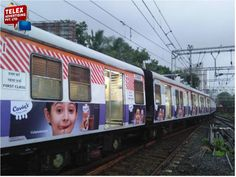 We done Siemens train vinyl wrapping campaign for ''Cavin milk shake'' on western trains.