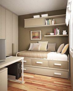 작은방 인테리어 | 수납형 침대