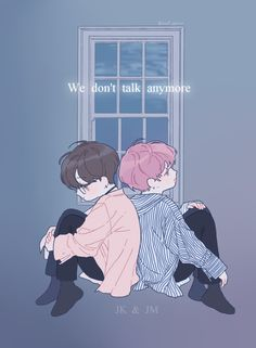 We don't talk anymore- JK and JM // fanart/// credits to owner/artist xx