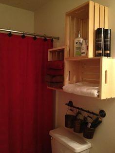 Bathroom Shelves Over Toilet Small Baths Shower Curtains 69 Ideas For 2019 Bathroom Shelves Over Toi Black Bathroom Decor, Bathroom Red, Small Bathroom, Red Bathrooms, Wooden Bathroom, Mermaid Bathroom, Mirror Bathroom, Bathroom Plants, Bathroom Lighting
