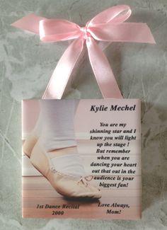 Small Personalized Dance Recital Message Tile Gift For Ballet Dancer Dance Recital, Dance Moms, Kids Dance Classes, Dancer Quotes, Dance Teacher Gifts, Dance Crafts, Toddler Ballet, Notes Design, Little Ballerina
