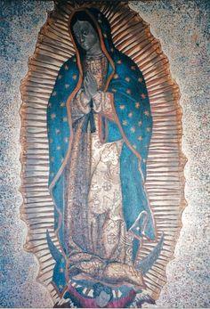 """Galeon""""Nuestra Señora de Guadalupe"""", 1724.imagen de l virgen,como la que lucia la popa del Galeon."""