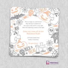 Halloween 2015 Party Invitation Template