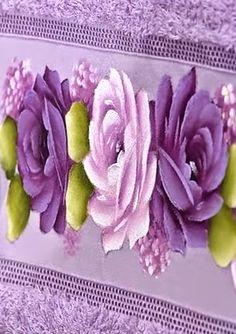 Pintura em Tecido Passo a Passo: Pintura de rosas em toalha de rosto