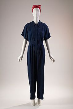 Denim: Fashion's Frontier | Fashion Institute of TechnologyJumpsuit, denim, 1942-45, USA, gift of David Toser, 2007.63.7