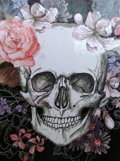 flower and skull image