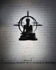 Buddha Metal Wall Sign Hindu Wall Art Yoga Studio Decor | Etsy