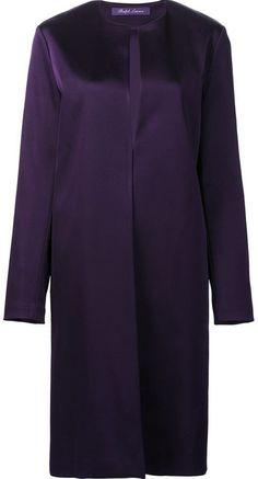 Ralph Lauren collarless midi coat- 7112style.website -