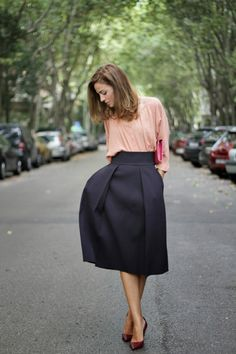 New Trend For This Spring   Midi Skirt