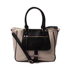 Womens Front Zip Satchel Handbag - Journeys