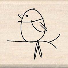 Mod Bird - Rubber Stamps