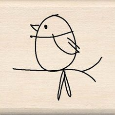 Mod Bird - Rubber Stamps