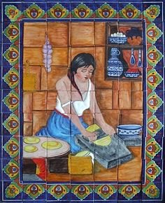 Mexican Talavera Tiles Hand Painted Mosaic Tile Mural