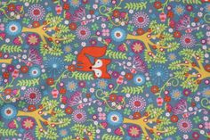 Fox cotton  0.5 m  by the metre by TanteAugusta on Etsy