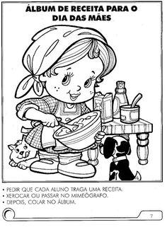 Pedagógiccos: Álbum de receitas - atividade Dia das mães