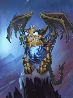 Knights of the Frozen Throne full art - Hearthstone Wiki Dragon Bones, Dragon Art, Art Warcraft, World Of Warcraft, Fantasy Creatures, Mythical Creatures, Character Art, Character Design, Lich King
