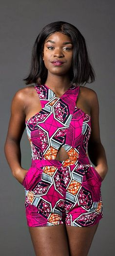 Make an entrance this season in our ultra-flattering African print romper. African romper, Ankara romper, african print playsuit jumpsuit, dashiki romper for women, colorful romper, print romper. Ankara | Dutch wax | Kente | Kitenge | Dashiki | African print bomber jacket | African fashion | Ankara bomber jacket | African prints | Nigerian style | Ghanaian fashion | Senegal fashion | Kenya fashion | Nigerian fashion | Ankara crop top (affiliate)