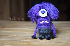 Purple Minion Despicable Me Amigurumi crochet doll by BramaCrochet, $20,25