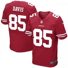 Nike Elite Youth San Francisco 49ers http://#85 Vernon Davis Team Color Red NFL Jersey $79.99