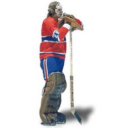 """The Famous Pose - """" Ken Dryden of the Montreal Canadiens """" . Hockey Goalie, Hockey Teams, Hockey Players, Ice Hockey, Hockey Stuff, Montreal Canadiens, Nhl, Ken Dryden, Favorite Position"""