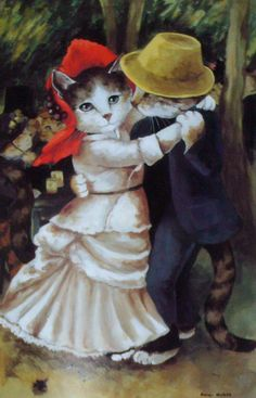 CATS~ Look At Them Go, Dancing The Tango!~ Susan Herbert