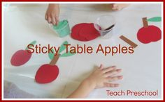 Sticky table friendship apples