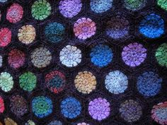 crochet blanket with Noro sock!