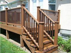 Simple raised deck.